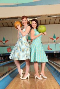 Vintage 1950s-Style Bowling Alley...